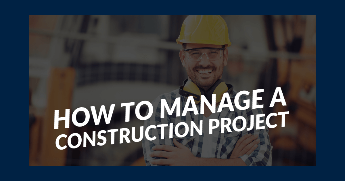 How to Manage a Construction Project Banner